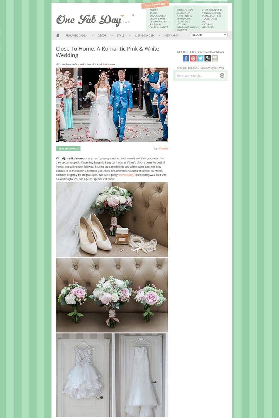 Close To Home A Romantic Pink White Wedding OneFabDay fb
