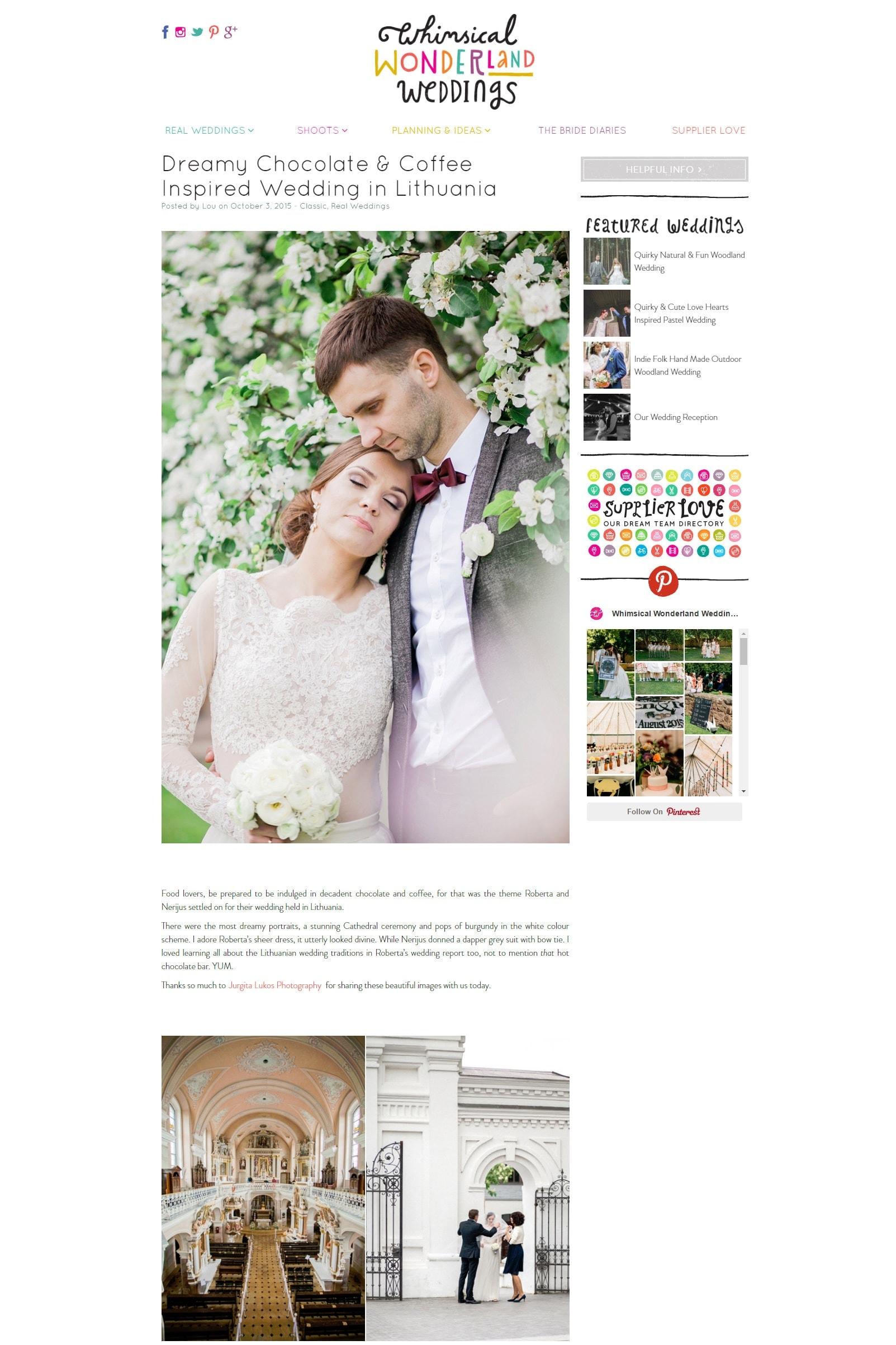 Dreamy Chocolate   Coffee Inspired Wedding in Lithuania   Whimsical Wonderland Weddings