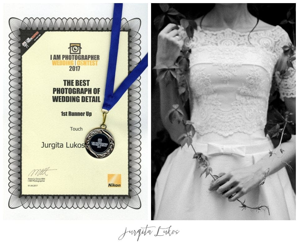 I Am Photographer Festival & Contest 2017, 1st Runner Up, The Best Photograph of Wedding detail , Apdovanojimas, Vestuviu fotografija, Jurgita Lukos Photography